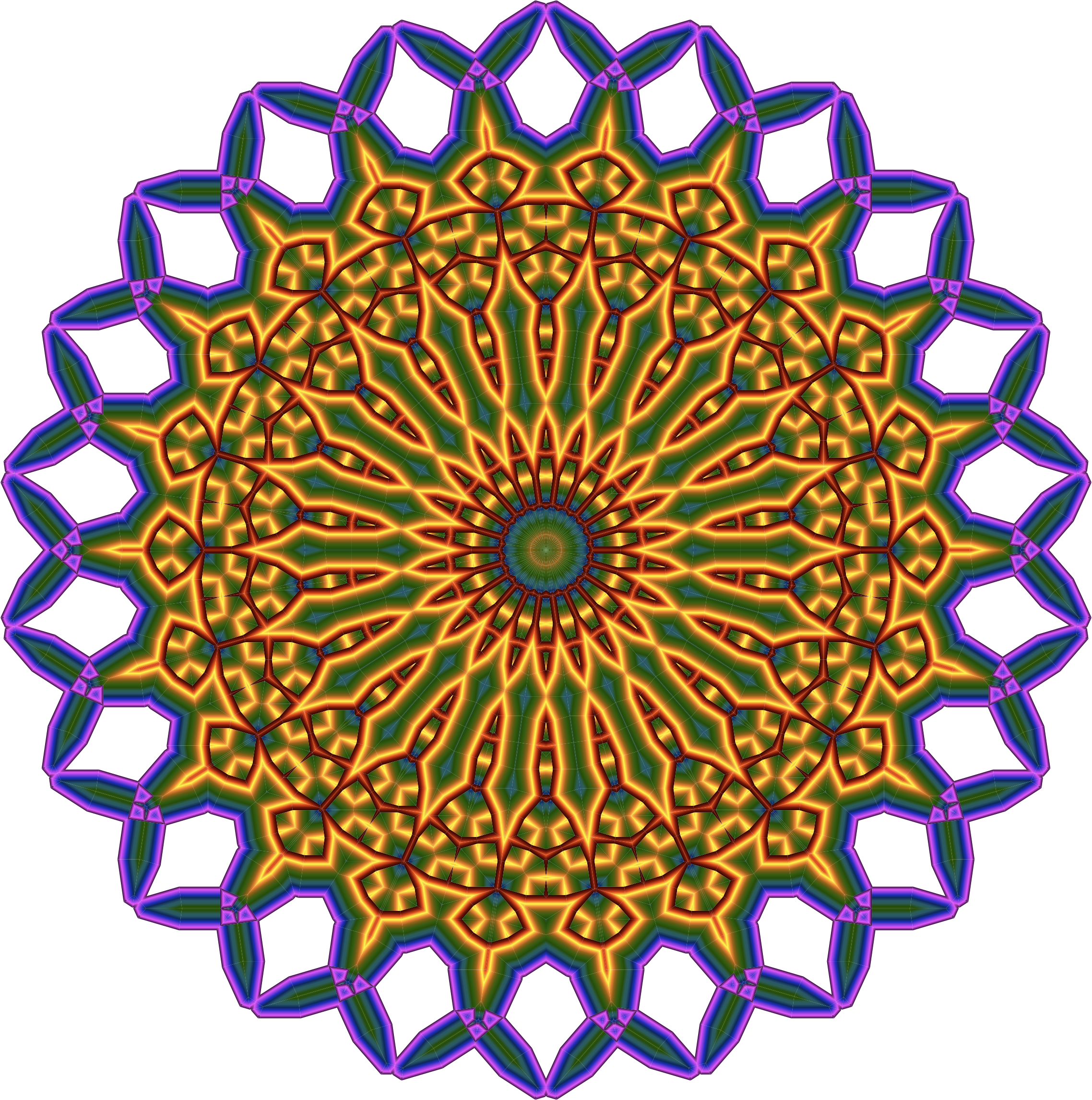 free stock mandala transparent colored #114368877