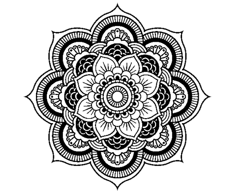 clipart black and white download mandala