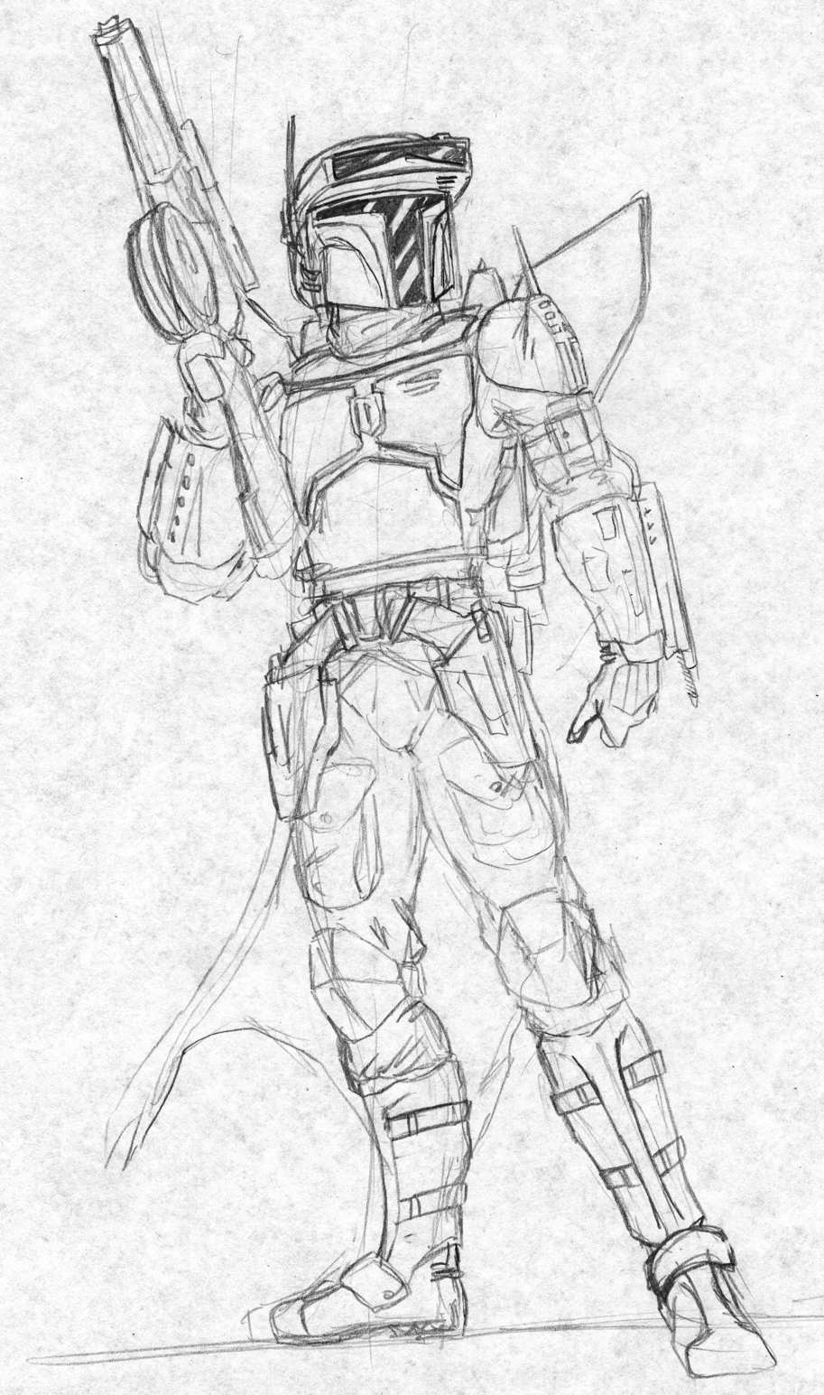 picture royalty free library Mandalorian Rocketeer by Kuk