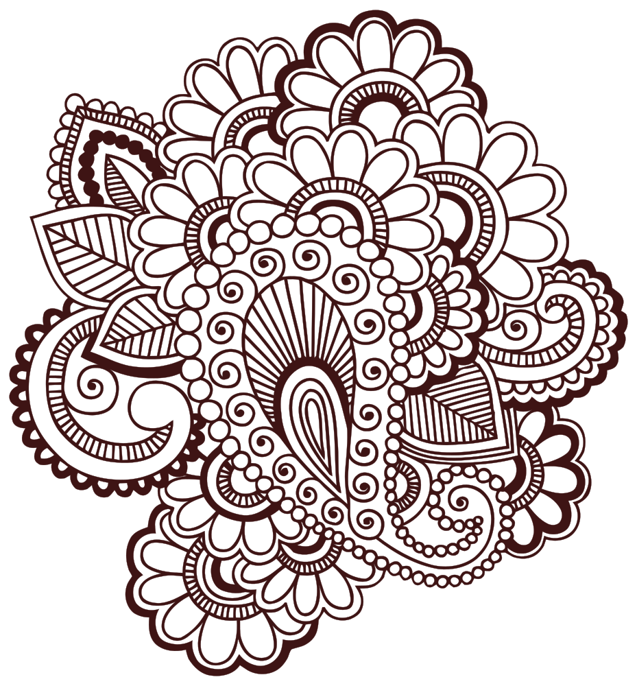 vector transparent library Mehndi Henna Tattoo Clip art