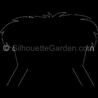 vector stock Silhouette . Manger clipart