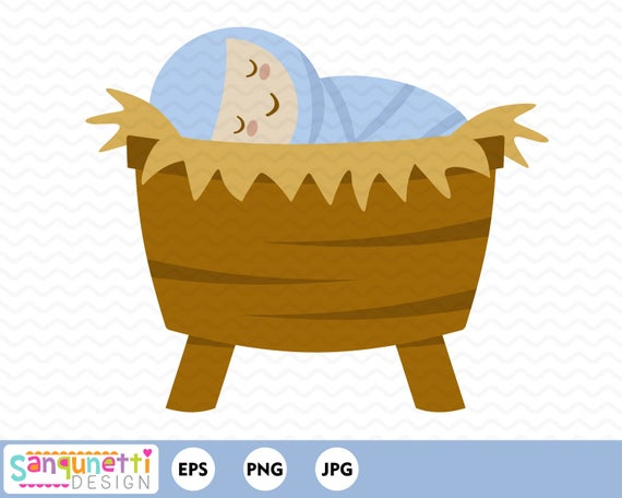 graphic library stock Baby jesus christmas religous. Manger clipart