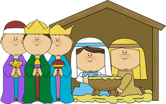 graphic library library Baby Manger Scene Clipart