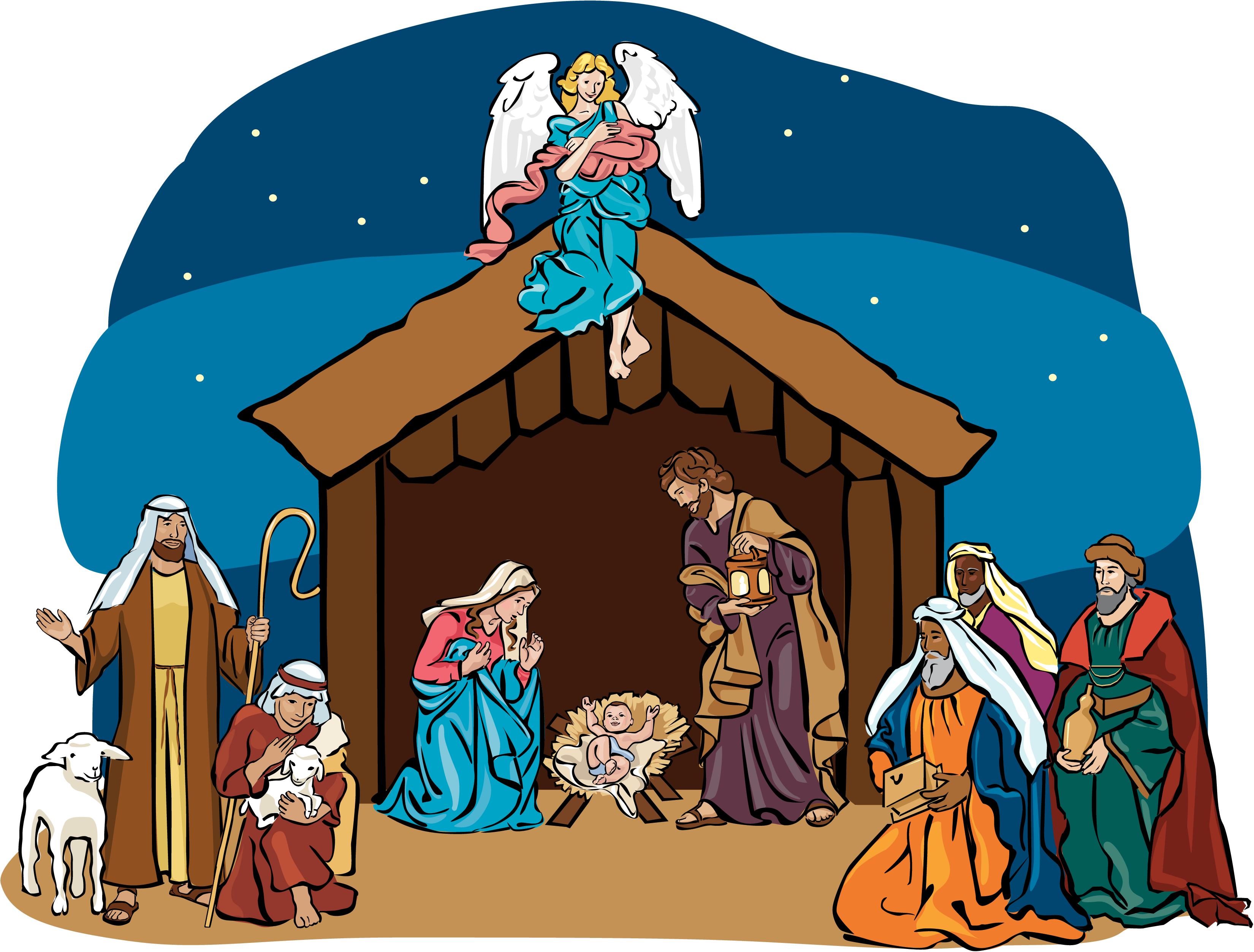 jpg library library  collection of scene. Nativity clipart.