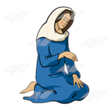 picture freeuse Abeka clip art mary. Manger clipart kneeling.
