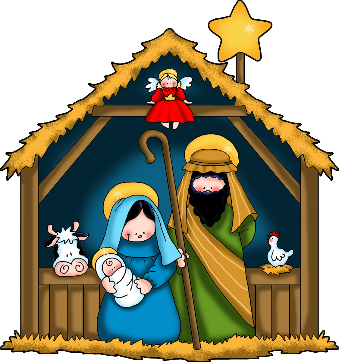 png library stock Nativity clipart. The children free clip.