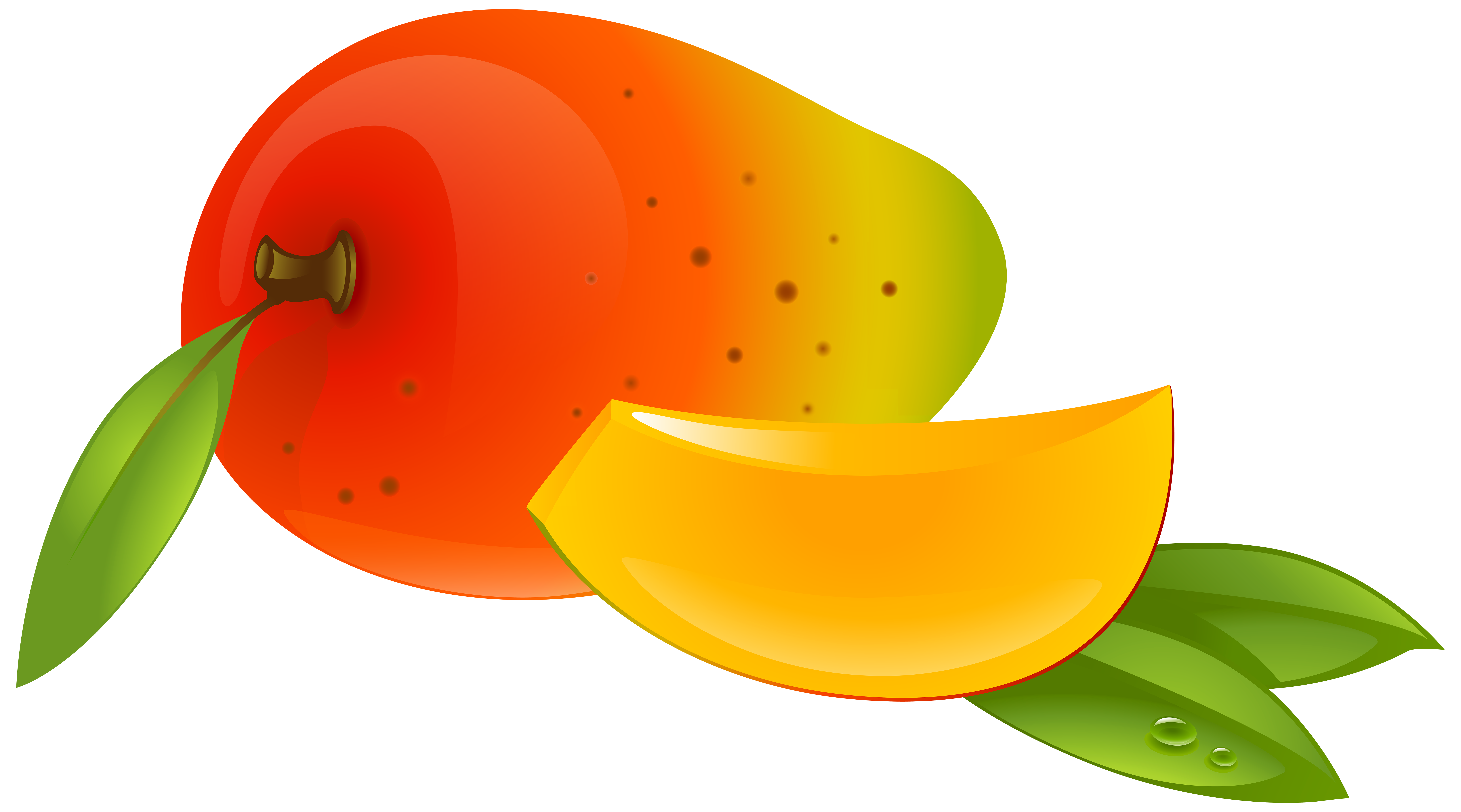vector royalty free download Mango clipart. Png clip art image