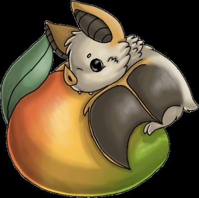 clipart freeuse stock Mango bat by ECT