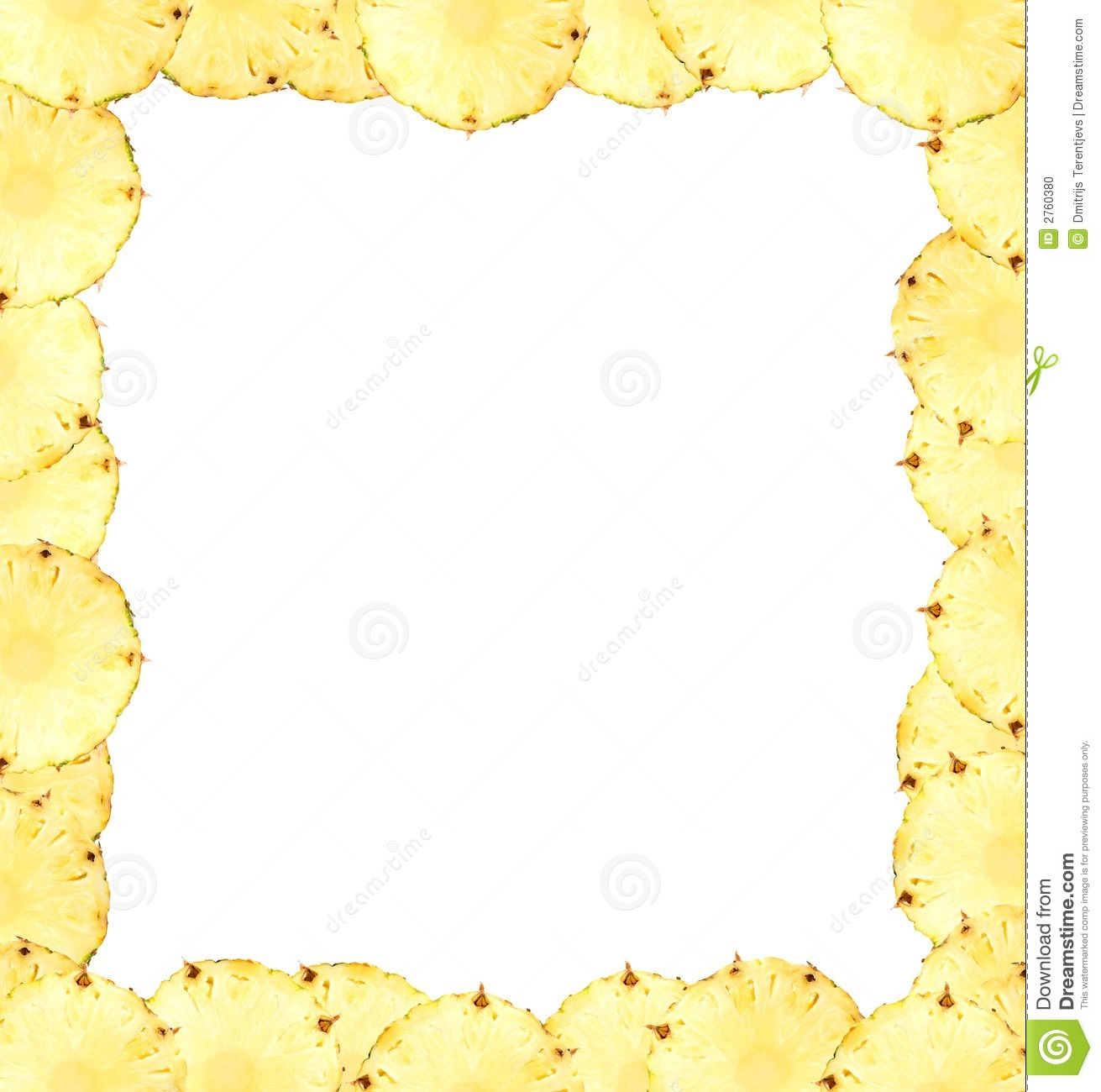 banner freeuse Pineapple . Mango clipart border