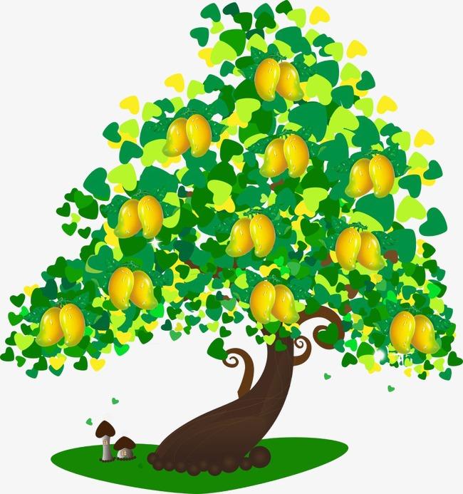 clip Mango clipart border. Tree png vectors psd.