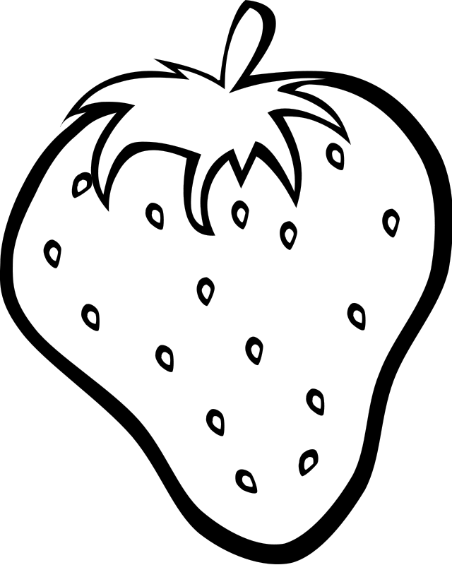 clip art transparent stock coloring page of big strawberry printables for preschoolers