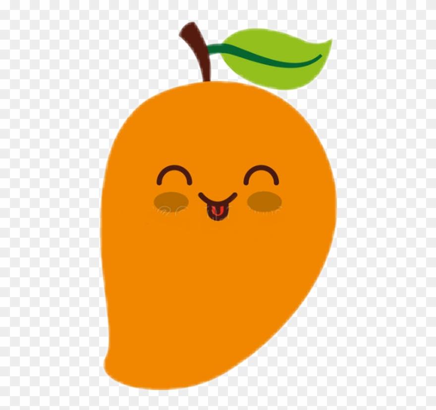 royalty free download Kawaii fruit pinclipart . Mango clipart cute.