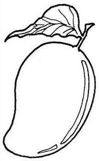 banner freeuse stock Clip drawing kindergarten worksheet. Mango clipart line art.