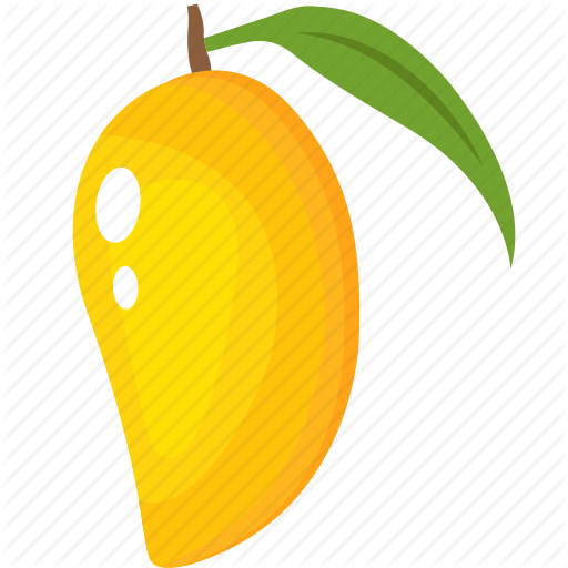 black and white Mango clipart line art. Filled fruits colored by.