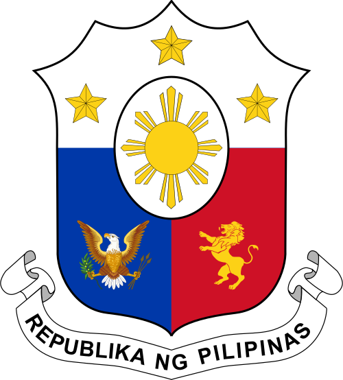 banner stock Coat of arms of the Philippines