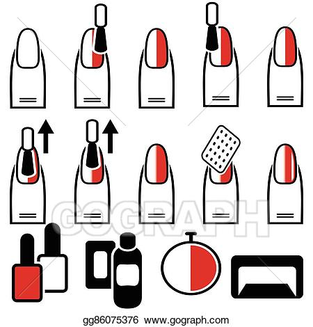 png royalty free library Manicure clipart decor. Vector art female gel.