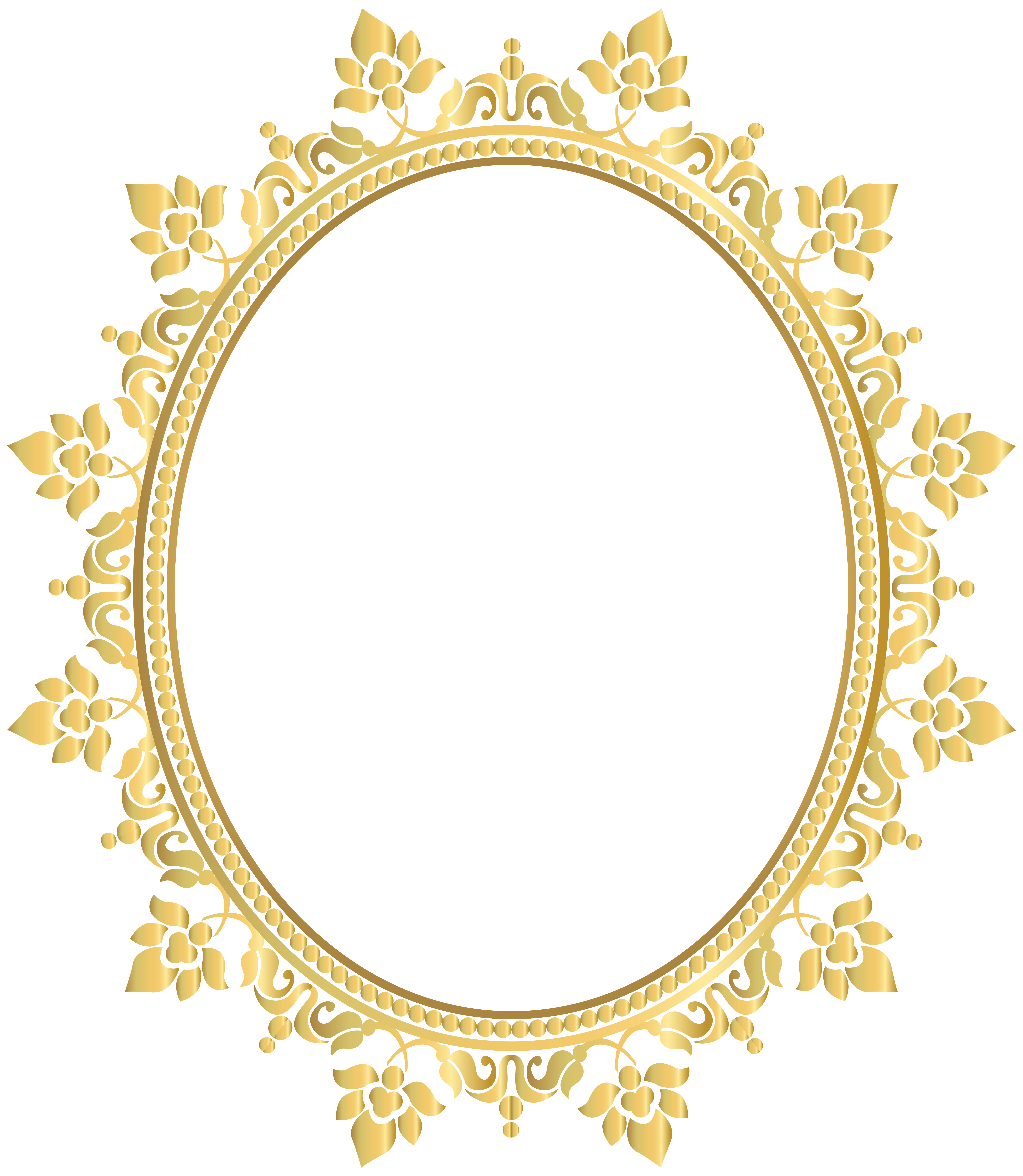 jpg transparent library Oval decorative border frame. Manicure clipart decor.