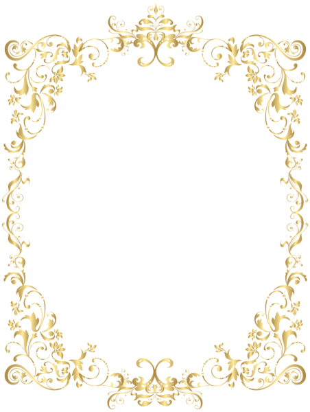 picture free library Manicure clipart decor. Border gold decorative frame.