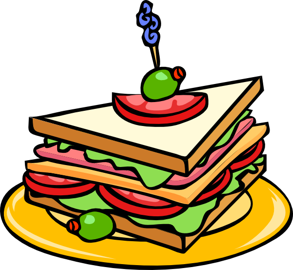 banner free library Piece clipart sandwich. Food black and white