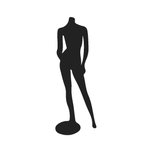 clip black and white Silhouette Mannequin at GetDrawings