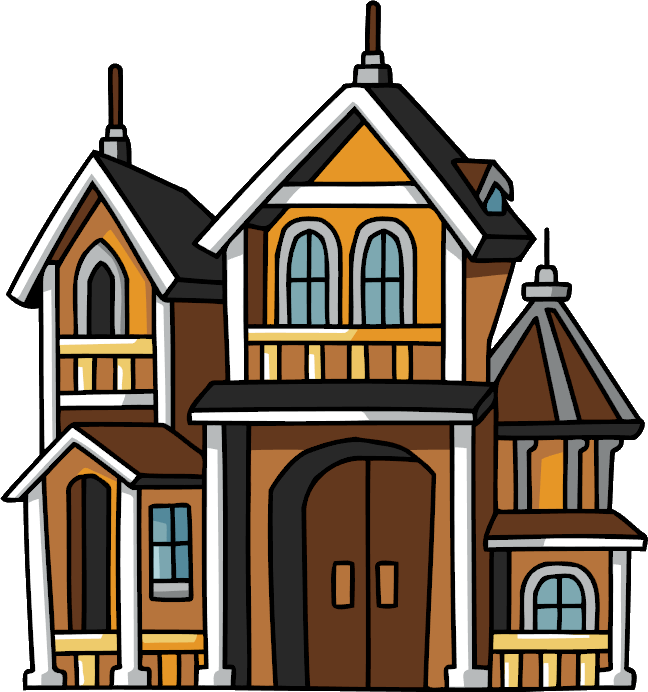 image black and white download House without roof free. Mansion clipart.
