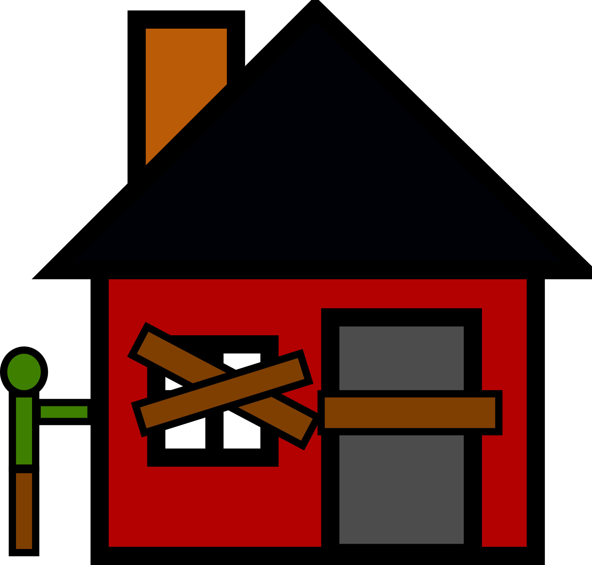 svg free House abandoned clipart
