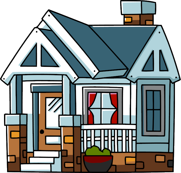 picture freeuse library Bungalow clipart big building