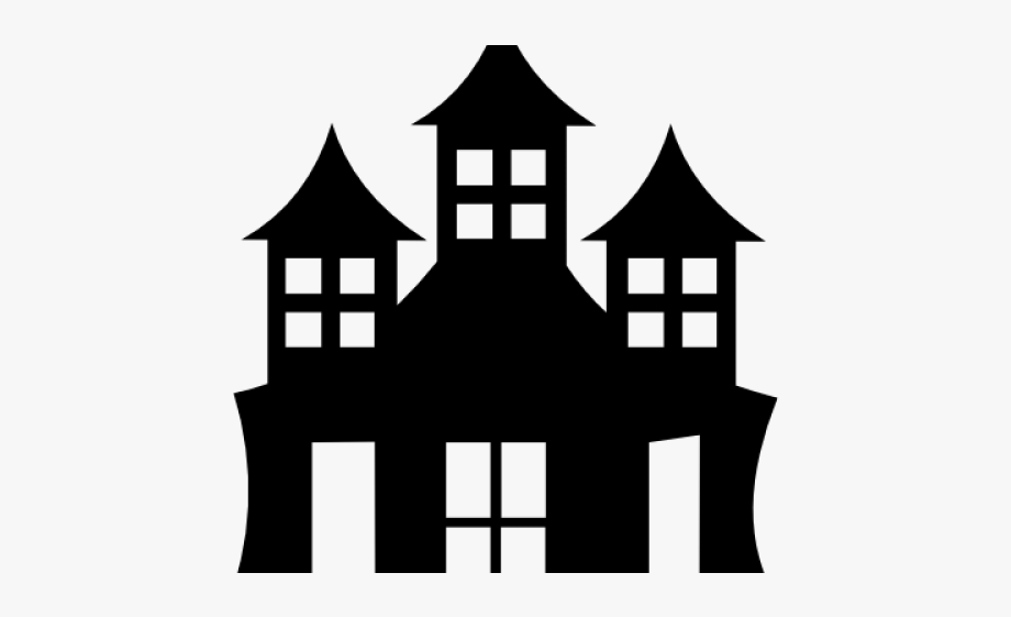 graphic stock Mansion clipart castle. House black and white