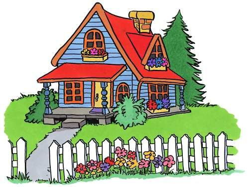 vector royalty free download Mansion clipart cute home. Clip art of houses.