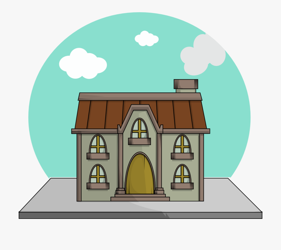 clip free stock Mansion clipart easy cartoon. Kid transparent .