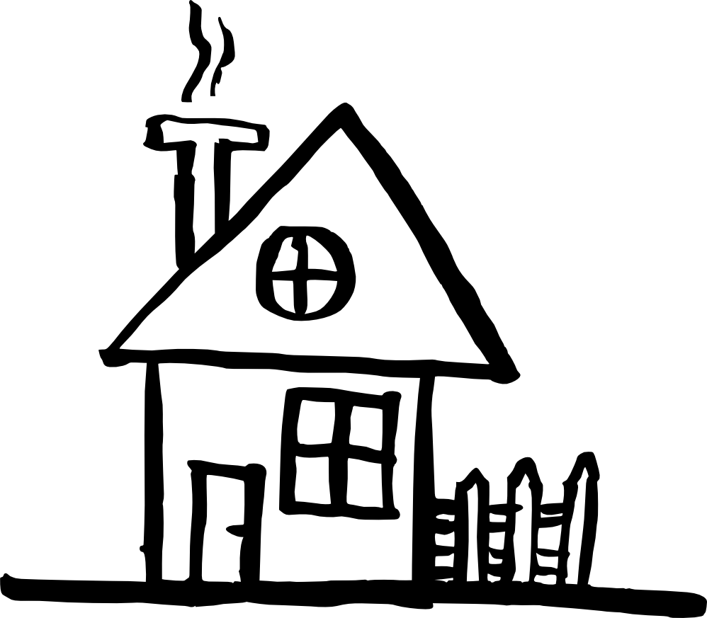 black and white download Drawing sticks hut. House line at getdrawings