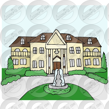 clip transparent library Mansion clipart first house. Transparent .