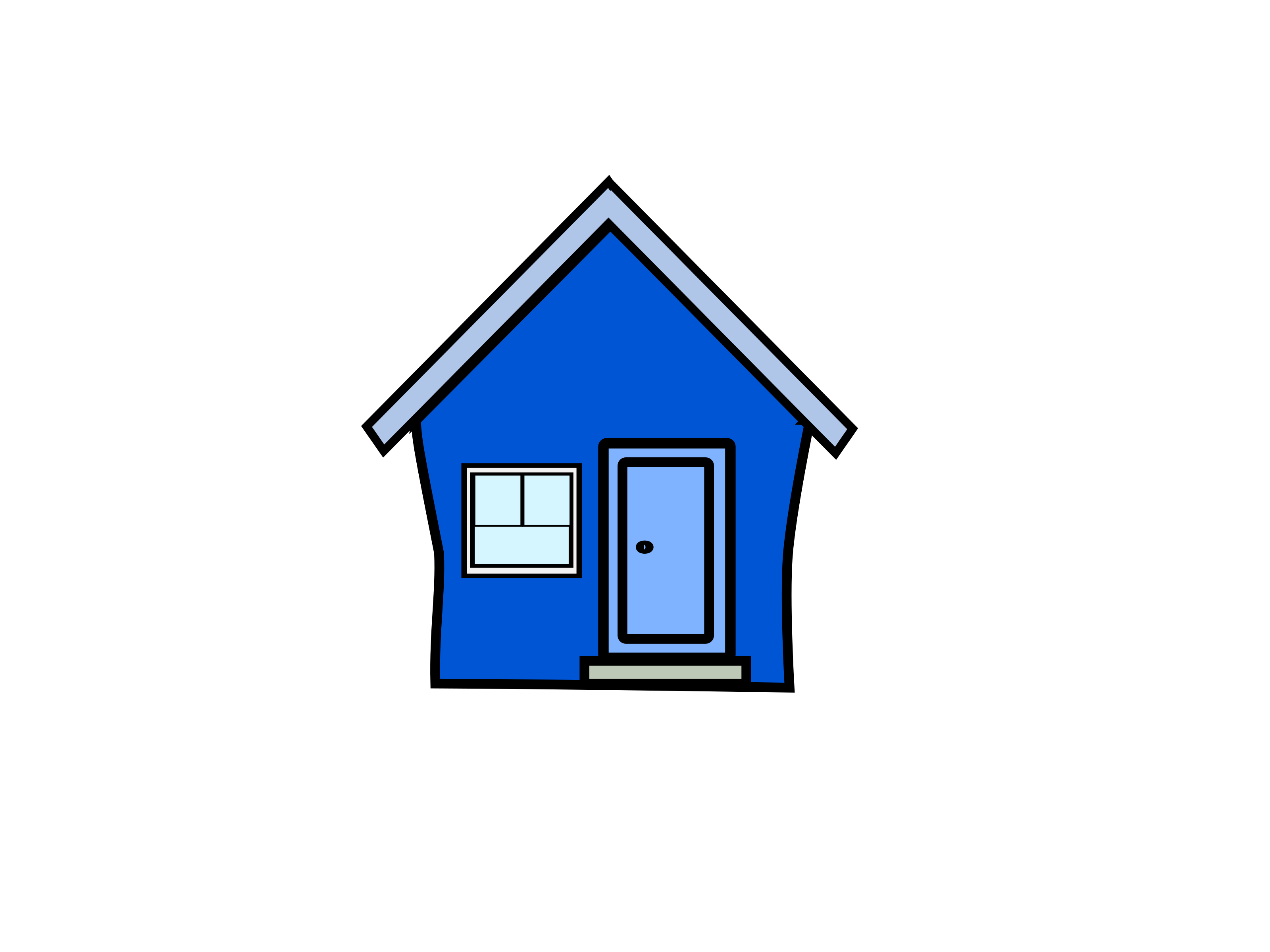 vector royalty free library Blue clip art color. Mansion clipart first house.