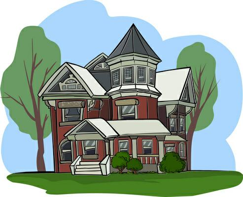 graphic royalty free stock Mansion clipart property preservation. Picture .