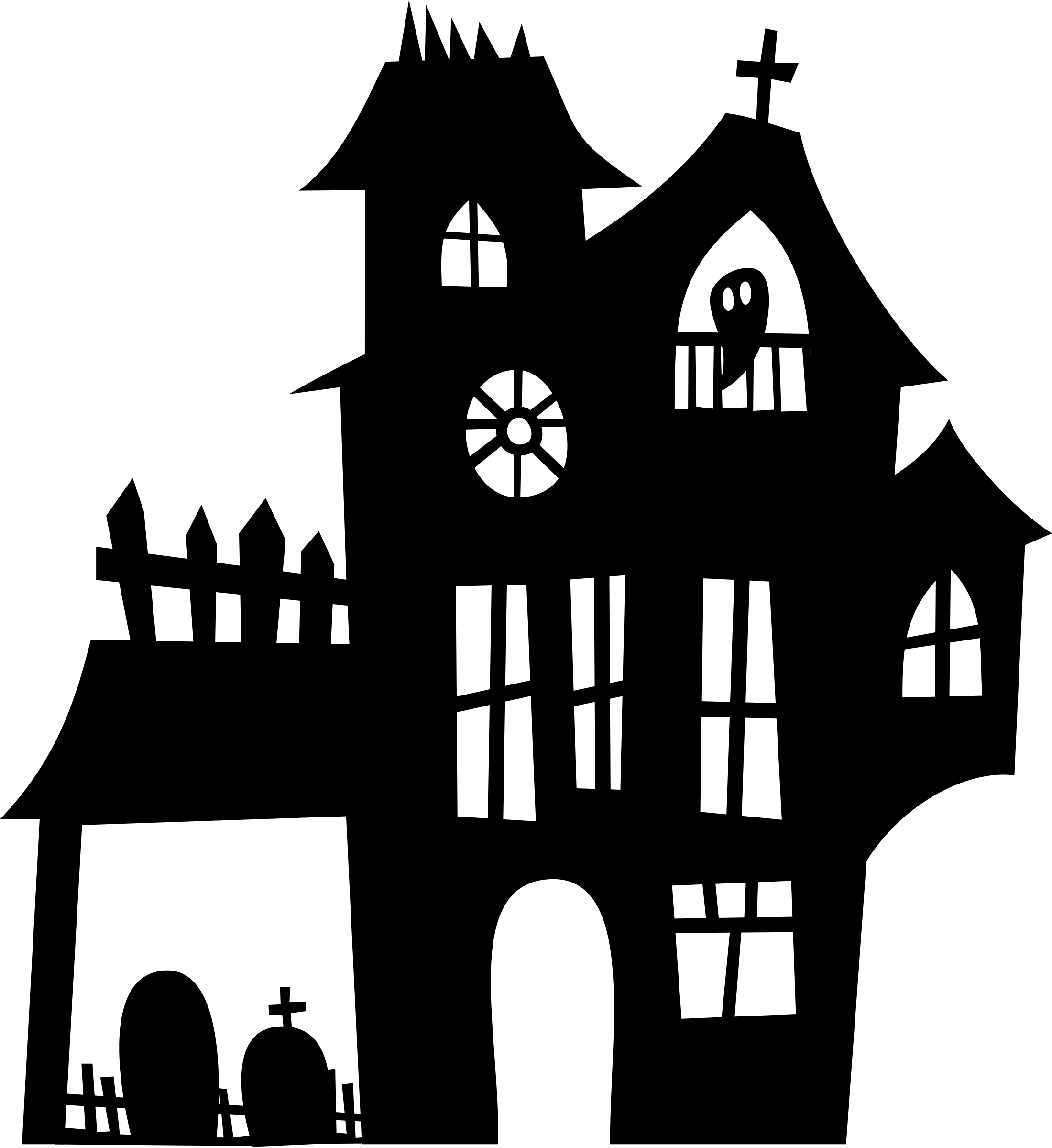 clipart download Mansion clipart silhouette. Haunted big image png.