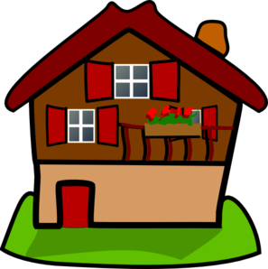 svg royalty free Cartoon House Clip Art at Clker