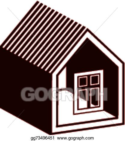 clip art freeuse Vector illustration simple icon. Mansion clipart village house.