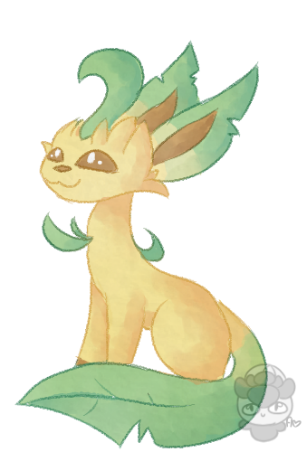 image transparent download Leafeon Watercolor Practice by SlothInSocks on DeviantArt