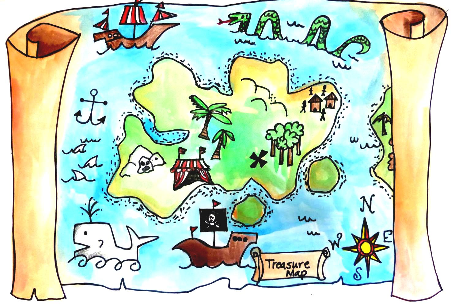 vector free download Treasure collection rf clipartpost. Map clipart