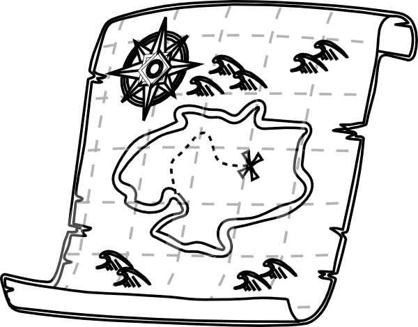 clip free stock Map Black And White Clipart