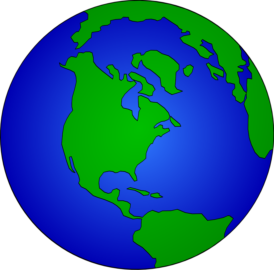 image royalty free Transparent world. Map in globe vector