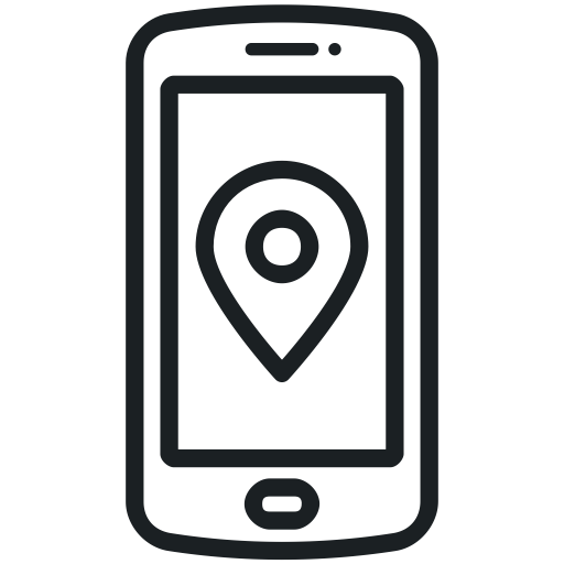 graphic royalty free download Map clipart phone. Icon .