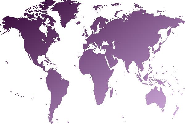 clip art freeuse Transparent map light. World purple clip art