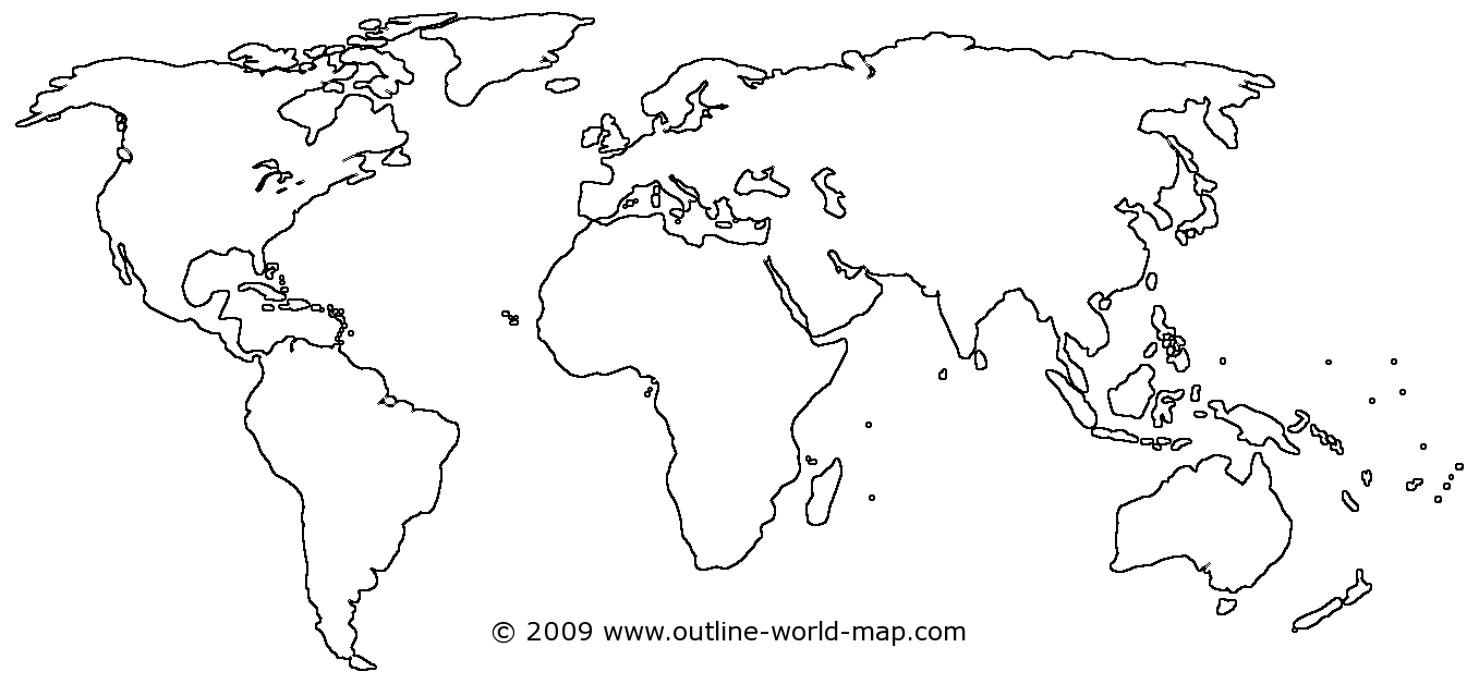 clip art black and white Transparent world. Blank maps of the