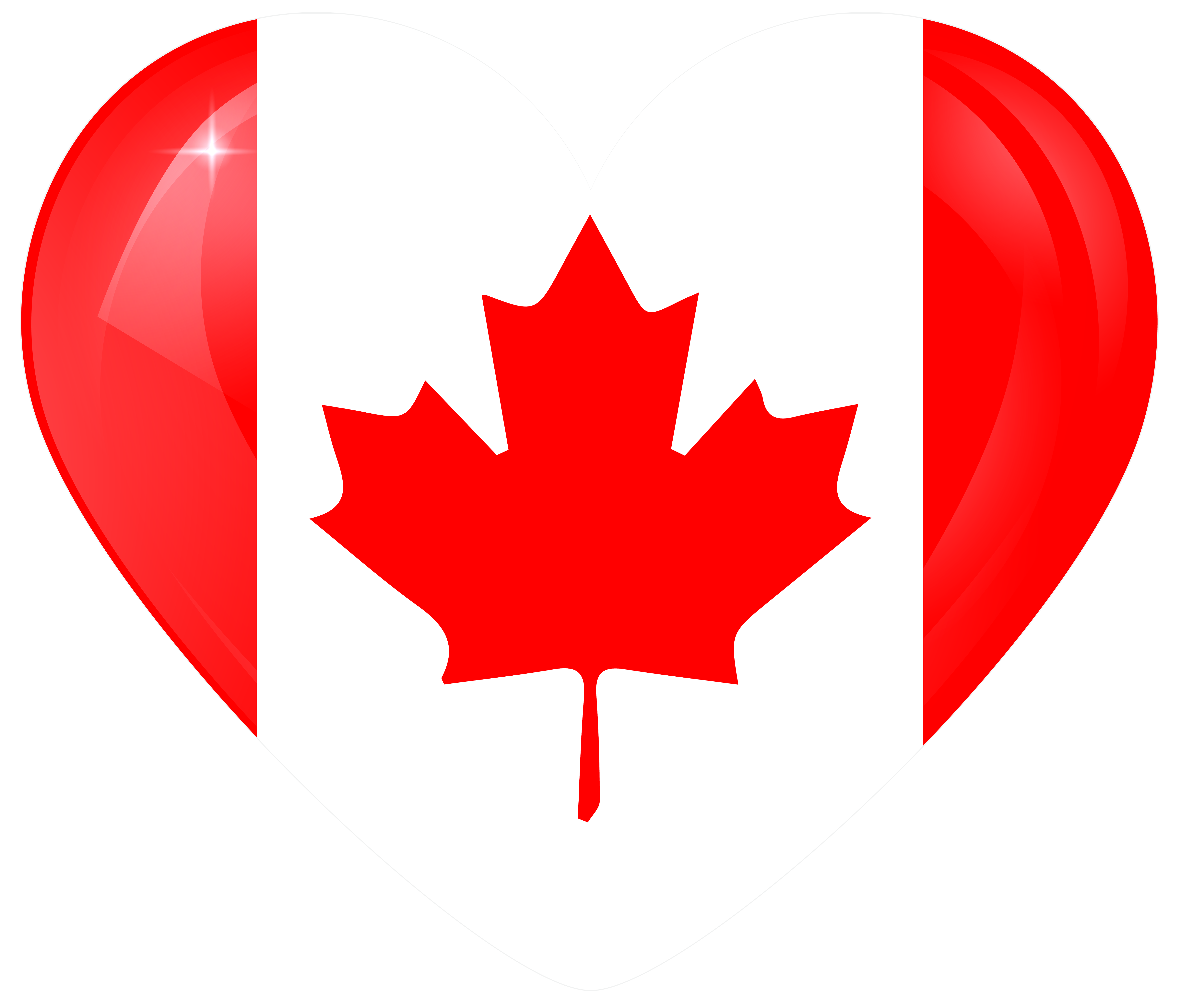 banner library stock Canada Large Heart Flag