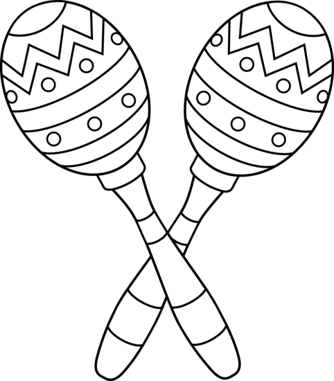 clipart black and white download Two line art free. Cinco de mayo clipart maracas.