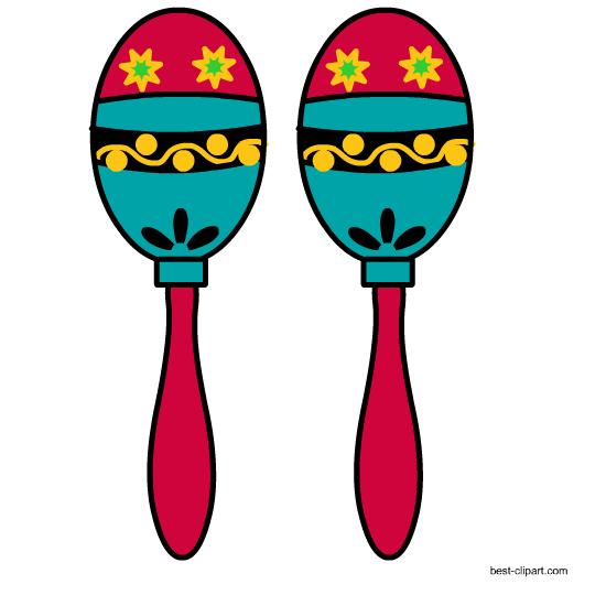 graphic black and white download Maracas clipart. Free mexican clip art.