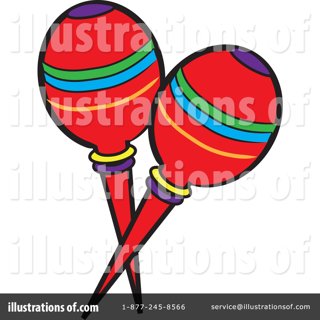vector black and white library Maracas clipart insturments. Illustration by pams royaltyfree.