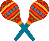 svg freeuse library Maracas clipart insturments. Search results for clip.