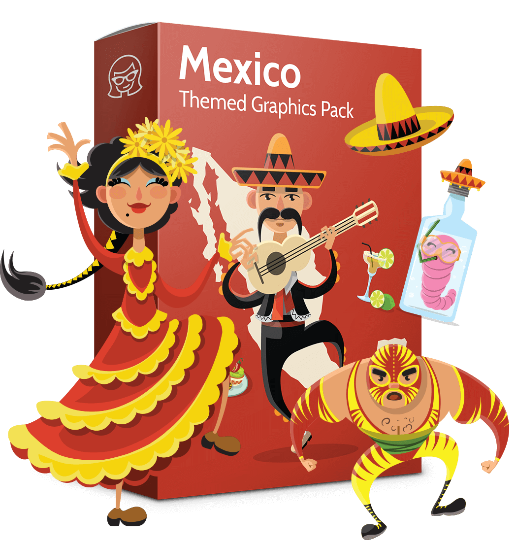 banner transparent Vector Mexican Collection